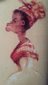 Kobieta w sukni z madrasu