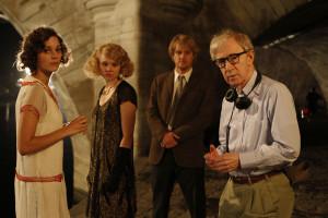 W trakcie zdjęć ze scenarzystą i reżyserem - Woody Allenem