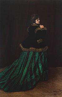 """Camille (Zielona suknia)"" 1866 – Claude Monet"