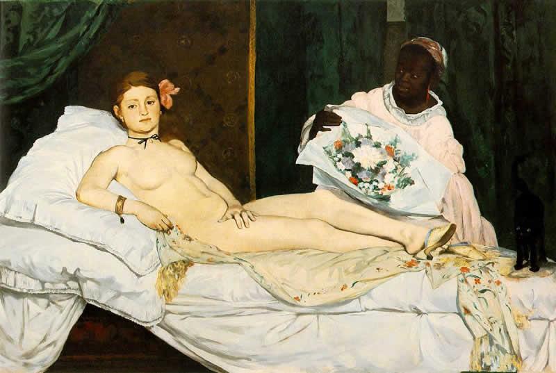 """Olimpia"" 1863 – Eduard Manet"