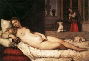 Wenus z Urbino, Tycjan, 1538, 119 x 165 cm, Uffizi, Florencja
