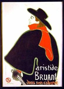 Aristide Bruand - plakat Henri de Tolouse Lautrec
