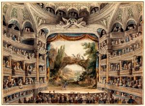 Comedie-Francaise, Paryz - wnętrze 18-sto wiecznego teatru