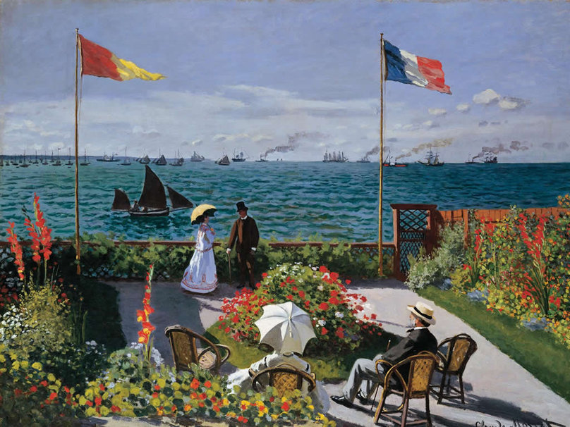 """Taras w Sainte-Adresse"" 1867 – Claude Monet"