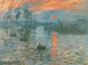 """Impresja wschód słońca"" Claude Monet"