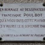 Tablica pamiątkowa na domu Poulbota przy 13 rue Junot na Montmartre.