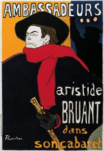Aristide Bruant na plakacie Henri Tolouse Lautrec