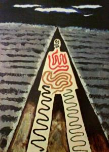 Man Ray, 1929, Nocą w Saint Jean-de-Luz. Muzeum sztuki nowoczesnej w Paryżu