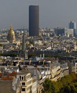 Montparnasse dziś - ze słynną wieżą w tle