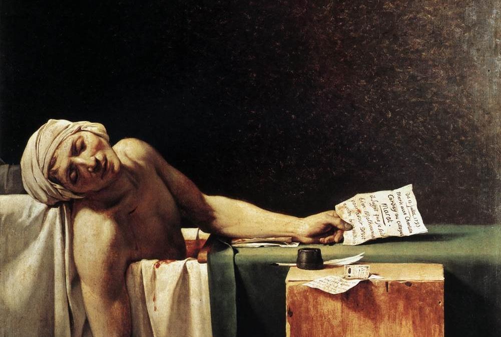 """""""Śmierć Marata"""" 1793 Jacques-Louis David"""