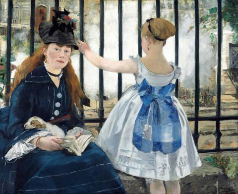 """""""Kolej żelazna"""" Edouard Manet 1873-1874"""