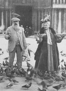 Alice i Claude Monet na placu św. Marka w Wenecji w 1908 roku