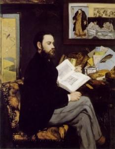 Portret Emila Zoli, Edouard Manet, 1868, Museum Orsey, Paryż