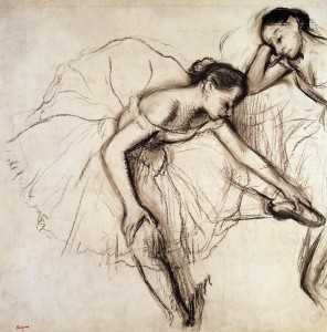 Edgar Degas - Wypoczywające tańcerki