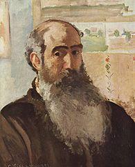 Camille Pissarro, Autoportret 1873 Muzeum Orsey Paryż