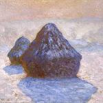 Haystacks,_Snow_Effect_1891_Claude_Monet_NGScotland