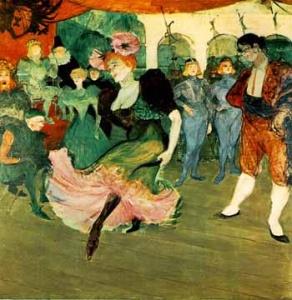 """Marcel Lender Tańcząca w """"Chilperic"""" Henri Tolouse Lautrec"""