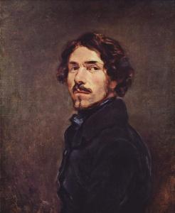 Eugene Delacroix - autoportret, 1842 rok, 66 x 54 cm, Florencja