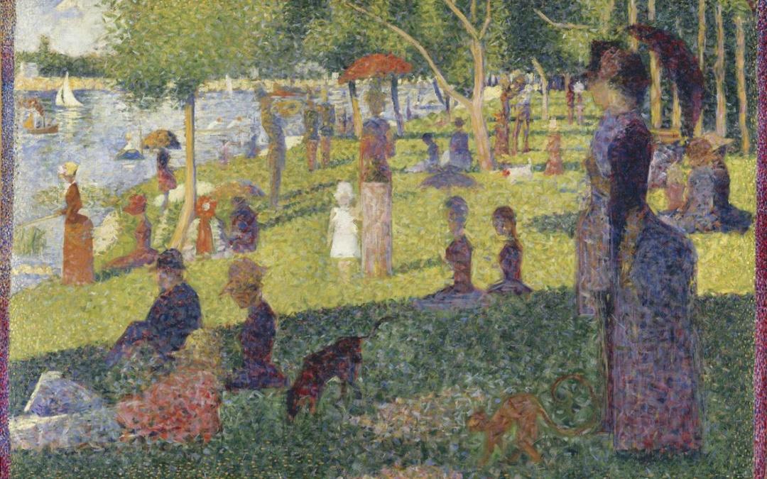"""Niedzielne popołudnie na Grande-Jatte"" 1884 -1886 – Georges Saurat"