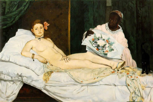 """""""Olimpia"""" Edouard Manet 1863"""