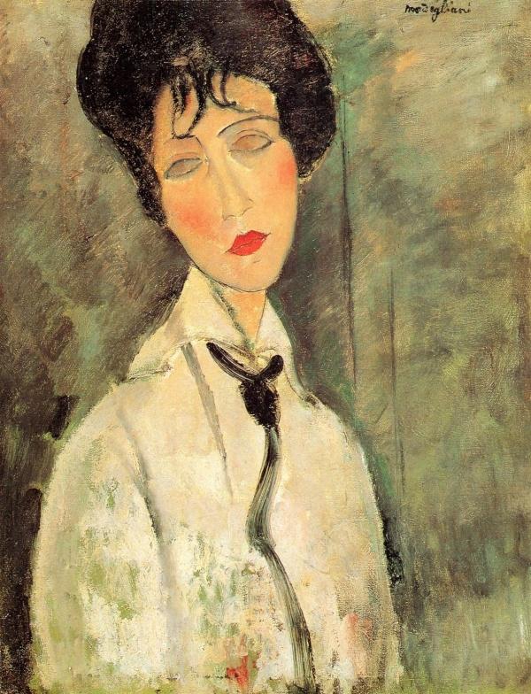 """""""Pani w czarnym krawacie"""" 1917 – Amedeo Modigliani"""