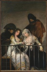 """Inspiracja do namalowania sceny była obraz """"Maje na balkonie"""" hiszpańskiego malarza Francisca Goi, znajdujący się obecnie w zbiorach Metropolitan Museum of Art w Nowym Jorku."""
