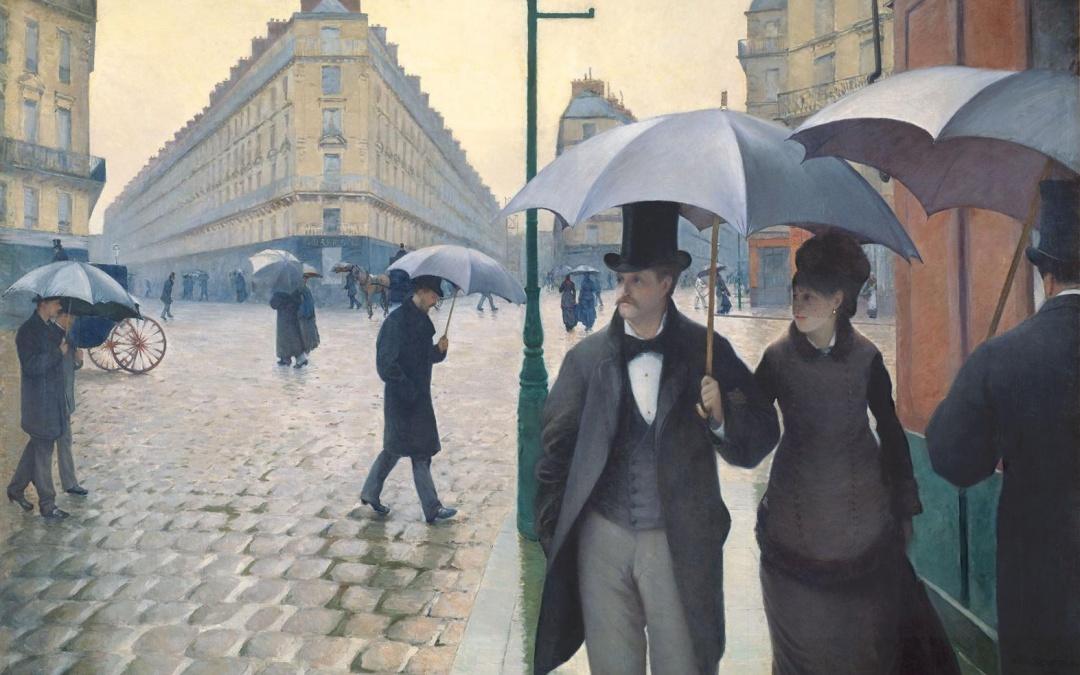 """Ulica paryska w deszczu"" 1877 Gustave Caillebotte"