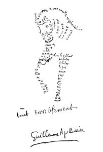 Kaligram autorstwa Guillaume Apollinaire'a
