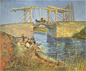 "Vincent van Gogh, ""Most w Langlois z praczkami"", Arles 1888"