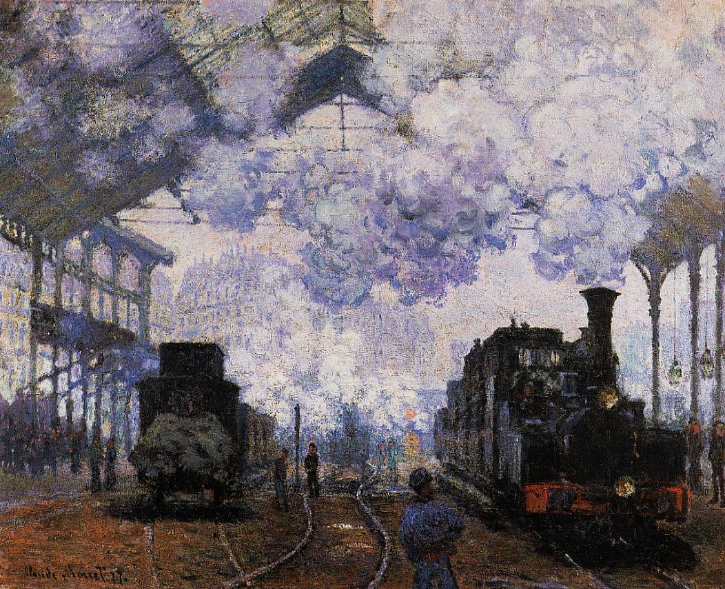 """Dworzec Saint-Lazare"" 1877 Claude Monet"