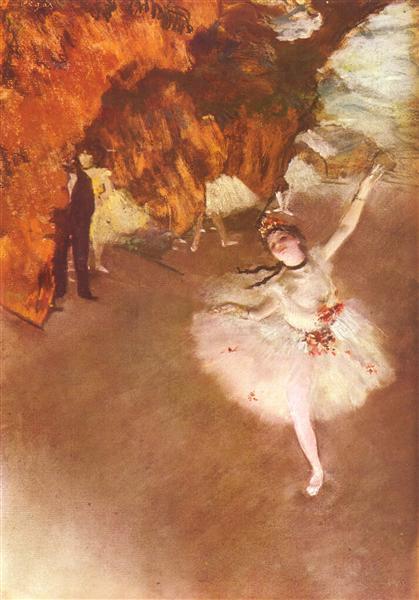 """""""Kłaniająca się primabalerina"""" – 1877 – Edgar Degas"""