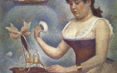 """""""Pudrująca się kobieta"""" 1889 – 1890 Georges Seurat"""