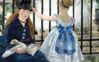 """""""Kolej żelazna"""" Edouard Manet 1872 – 1873"""