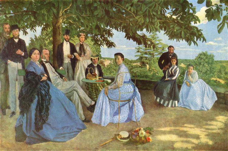"""""""Zjazd rodzinny"""" 1867 – 68 Frederic Bazille"""