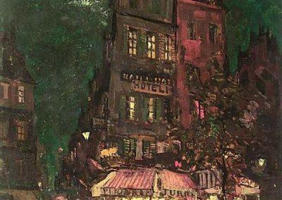 Konstanty Korovin Paris Venice street-1927