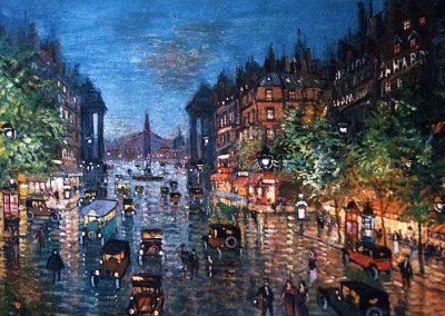 Konstanty Korowin Paris boulevard 1939