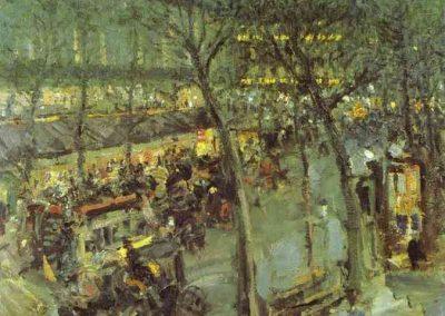 Konstanty Korovin Paris. Café de la Paix. 1906