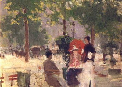 Konstanty Korowin Parisian Cafe. Late 1890s
