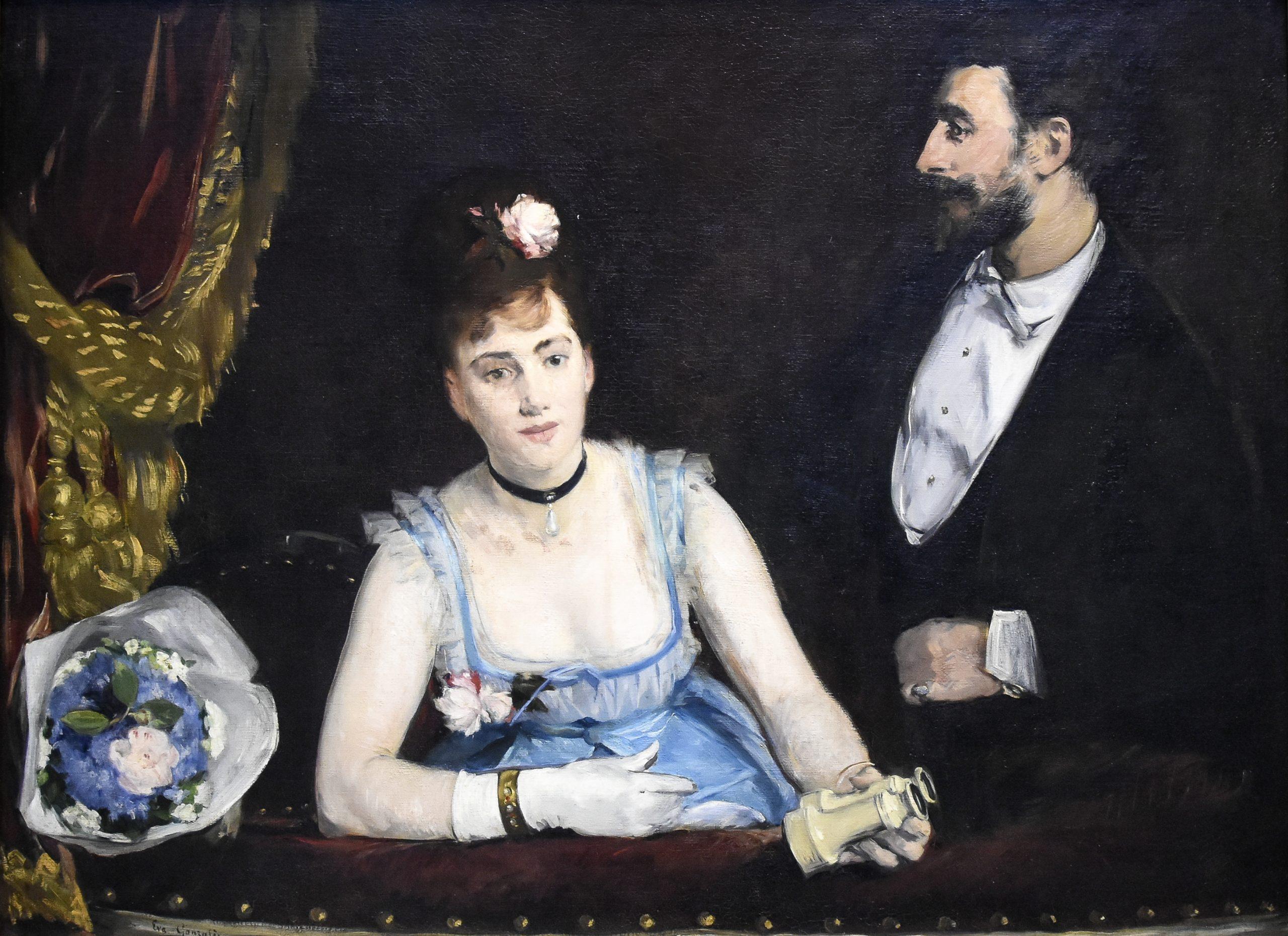 """EEva Gonzales """"Loża w Théâtre des Italiens"""" 1874"""