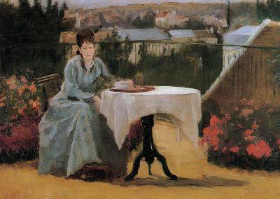 "Eva Gonzales ""Popołudniowa herbata"" 1875"