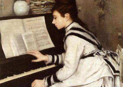 """Eva Gonzales """"Sekretnie"""" 1878"""