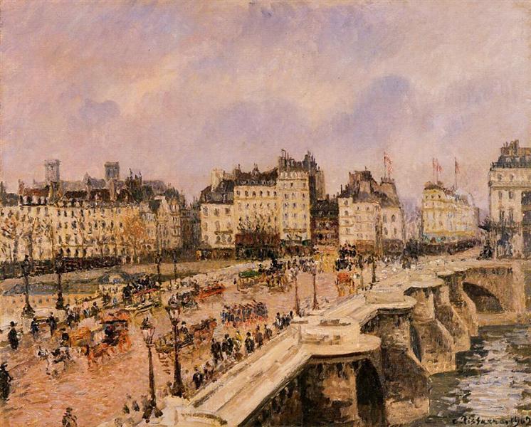 Pont Neuf Pissarro Paryż