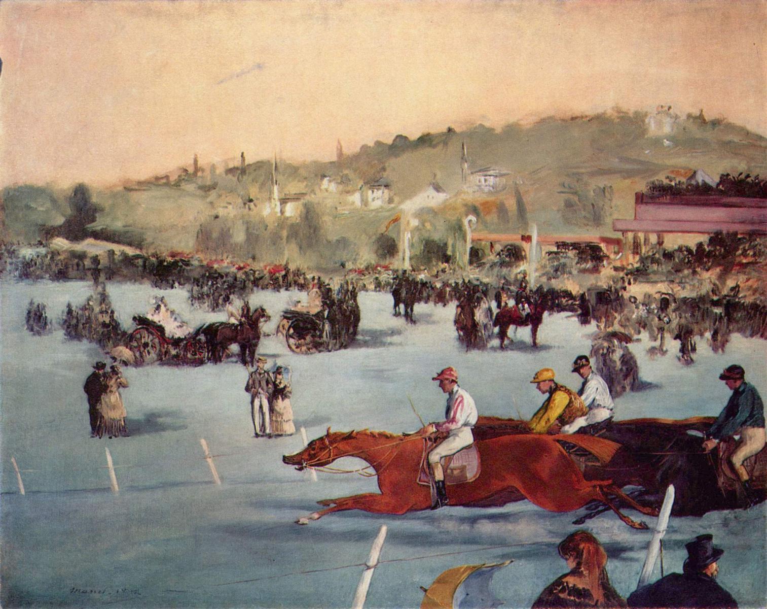 Édouard Manet, Wyścigi w Bois de Boulogne, 1872