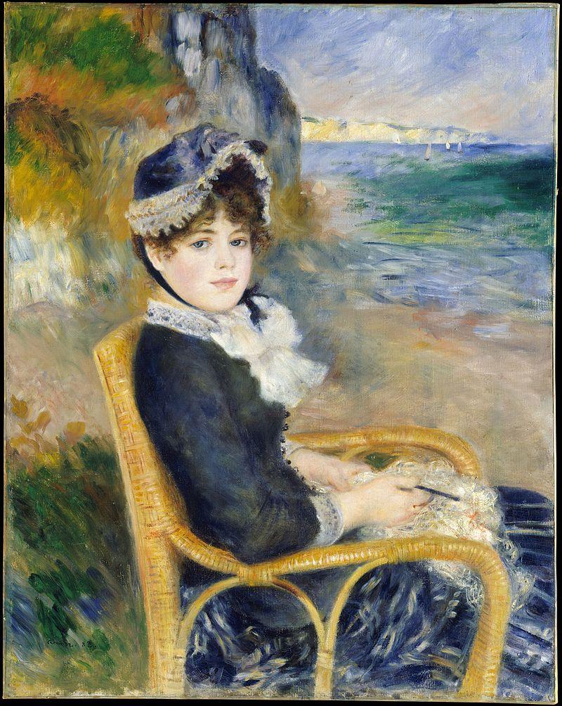 """Nad brzegiem morza"" Aguste Renoire 1875"