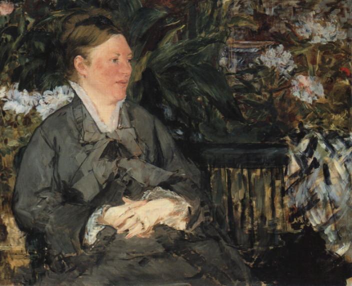"Manet ""Madame Manet w szklarni"" 1879"