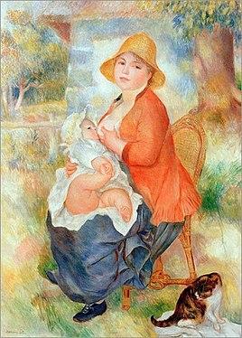 """""""Macierznystwo"""" (Aline z Pierrem) Auguste Renoir 1886"""