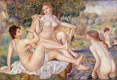 """""""Wielkie kąpiące się"""" Auguste Renoir 1884-1887"""